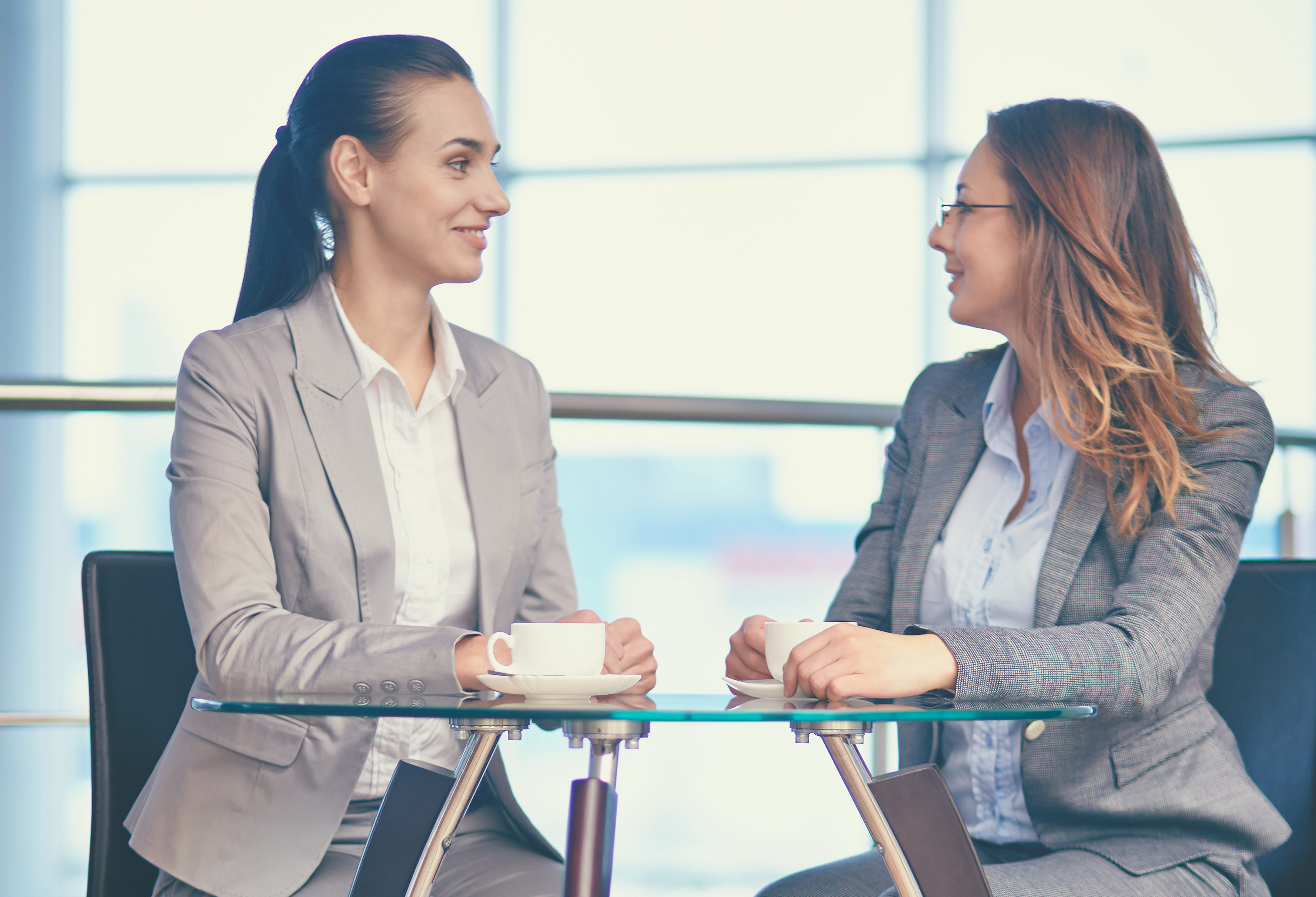 business women job interview coffee chat